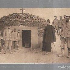 Postales: POSTAL. I GUERRA MUNDIAL. EN CHAMPAGNE. CAPILLA PROTEGIDA CONTRA OBUSES. ALEX JOUVENE EDITOR. Lote 185697793