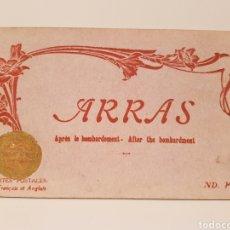 Postales: LIBRITO DE 24 POSTALES/ ARRAS / APRÈS BOMBARDEMENT/ AFTER THE BOMBARDMENT,/ DESPUES DEL BOMBARDEO. Lote 186357436