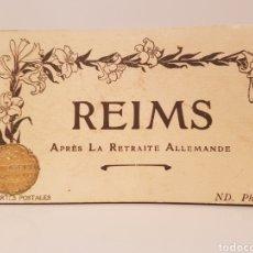 Postales: LIBRITO DE 24 POSTALES/ REIMS/ APRÈS LA RETRAITE ALLEMANDE/14× 9 CTM. Lote 186357907