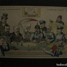 Postales: I GUERRA MUNDIAL-LA RULETA DE LA MUERTE-COL·CONFLICTO EUROPEO-REVERSO SIN DIVIDIR-VER FOTOS-(65.722). Lote 189781182