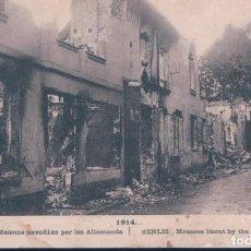 Postales: POSTAL FRAMCIA - SENLIS - MAISONS INCENDIES PAR LES ALLEMANDS - 1914 - ELD. Lote 190325867