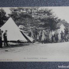 Postales: CAMP DE CHALONS - LE RAPPORT 1ª GUERRA MUNDIAL POSTAL ANTIGUA. Lote 192020713