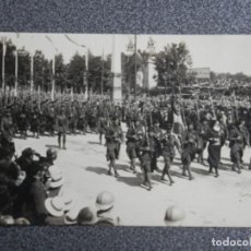 Postales: RARA POSTAL FOTOGRÁFICA DESFILE VICTORIA EN PARÍS 1ª GUERRA MUNDIAL POSTAL ANTIGUA. Lote 192020980
