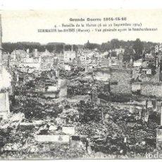 Postales: POSTAL ANTIGUA DE -LA GUERRA 1914-1915 -VISTA GENERAL BOMBARDEO EN MARNE-EDIT-HUMBERT-ESCRITA 1.918. Lote 193071816