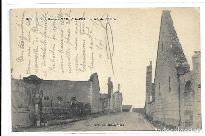POSTAL ANTIGUA DE -LA GUERRA 1914-1915 - LA BATALLA DELA MARNE-EDIT-HUMBERT-ESCRITA 1.918 (Postales - Postales Temáticas - I Guerra Mundial)