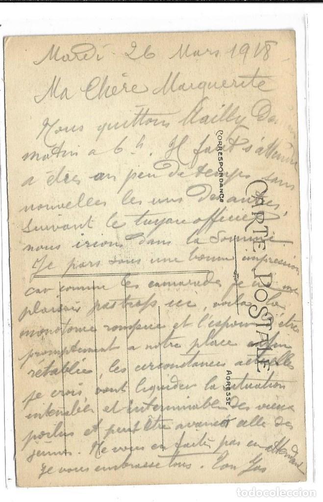 Postales: POSTAL ANTIGUA DE -LA GUERRA 1914-1915 - LA BATALLA DELA MARNE-EDIT-HUMBERT-ESCRITA 1.918 - Foto 2 - 193072065