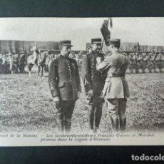 Postales: ANTIGUA POSTAL I GUERRA MUNDIAL. FRENTE DEL SOMA. TENIENTES AVIADORES GARROS, LEGIÓN DE HONOR. . Lote 193735866