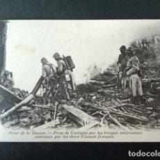 Postales: ANTIGUA POSTAL I GUERRA MUNDIAL. FRENTE DEL SOMA. TOMA DE CANTIGNY TROPAS AMERICANAS. ASALTO FRANCES. Lote 193736160