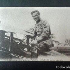 Postales: ANTIGUA POSTAL I GUERRA MUNDIAL. EL TENIENTE AVIADOR FRANCÉS FOUNCK QUE DERRIBA 60 AVIONES ENEMIGOS.. Lote 193737240