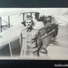 Postales: ANTIGUA POSTAL I GUERRA MUNDIAL. EL TENIENTE AVIADOR FRANCES HUGUES. . Lote 193737291