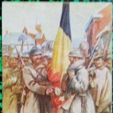Postales: POSTAL FRANCESA FELICITACIÓN MILITAR DE AÑO NUEVO - 1918 - COMRADES IN ARMS - CIRCULADA - PJRB. Lote 195358528
