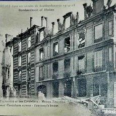 Postales: REIMS DURANTE LOS AÑOS DEL BOMBARDEO ALEMÁN (1914-1918).. Lote 195524472