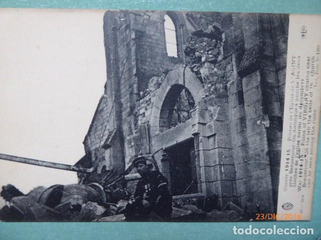 POSTAL, 1º GUERRA MUNDIAL.SOLDADO Y RUINAS, (Postales - Postales Temáticas - I Guerra Mundial)