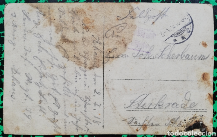 Postales: Militar - Foto de estudio - CIRCULADA, fechada el 2-1-1918 - PJRB - Foto 2 - 196324076
