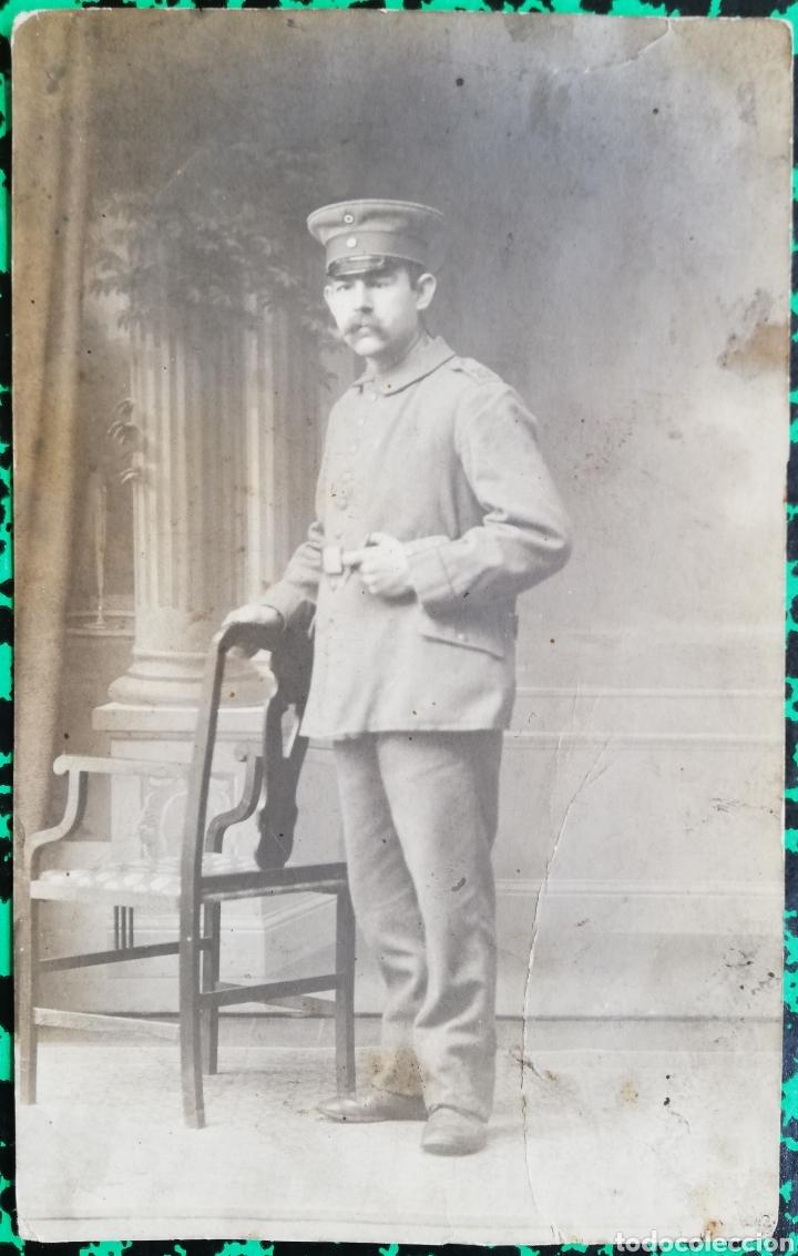 MILITAR - FOTO DE ESTUDIO - CIRCULADA, FECHADA EL 2-1-1918 - PJRB (Postales - Postales Temáticas - I Guerra Mundial)