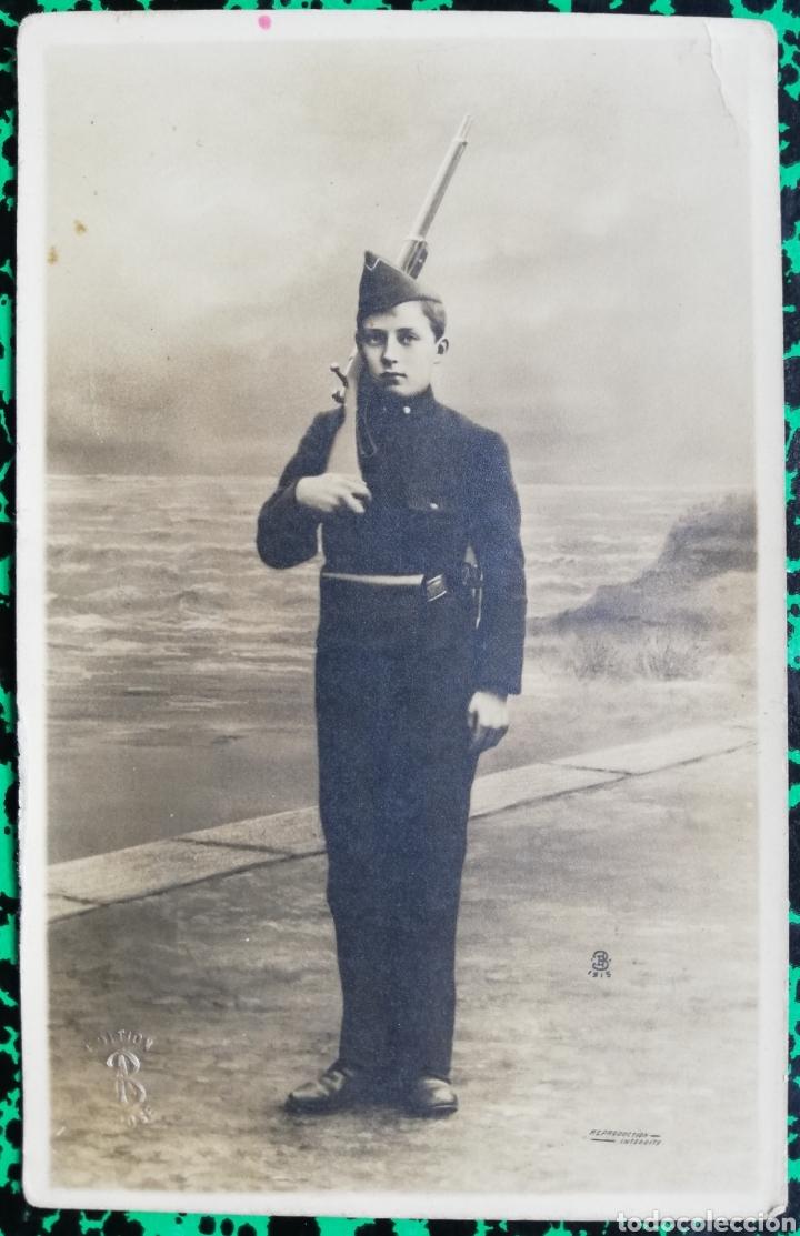MILITAR - ADOLESCENTE - FOTO DE ESTUDIO - SIN CIRCULAR - HAINAUT - PJRB (Postales - Postales Temáticas - I Guerra Mundial)