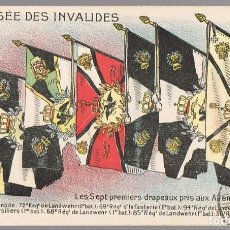 Postales: POSTAL AU MUSÉE DES INVALIDES LES SEPT PREMIERS DRAPEAUX PRIS AUX ALLEMANS . Lote 201504597