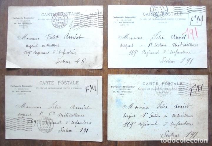 4 CARTE POSTALE MILITAIRE 1916-1917 PARFUMERIE BRÉMONTIER FELIX AMIOT 169 INFANTERIE (Postales - Postales Temáticas - I Guerra Mundial)