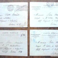 Postales: 4 CARTE POSTALE MILITAIRE 1916-1917 PARFUMERIE BRÉMONTIER FELIX AMIOT 169 INFANTERIE. Lote 204206555