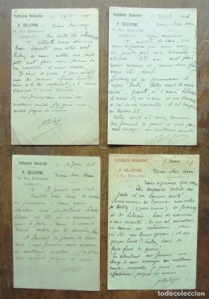 Postales: 4 Carte Postale Militaire 1916-1917 Parfumerie Brémontier Felix Amiot 169 Infanterie - Foto 2 - 204206555