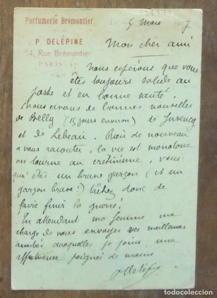 Postales: 4 Carte Postale Militaire 1916-1917 Parfumerie Brémontier Felix Amiot 169 Infanterie - Foto 3 - 204206555