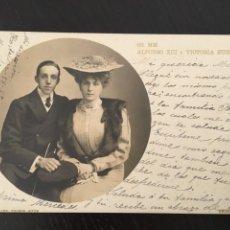 Postales: POSTAL FOTOGRAFIA SS MM ALFONSO XIII Y VICTORIA EUGENIA, CIRCULADA 1906. Lote 205654143