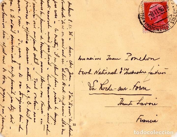 Postales: BENITO MUSSOLINI A CABALLO EN PLAZA DE ROMA. POSTAL FECHADA EN NOVIEMBRE DE 1936 - Foto 2 - 206423185