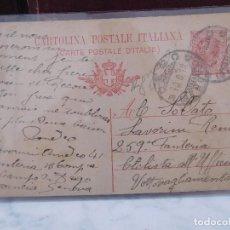 Postales: POSTAL ITALIANA CORRESPONDENCIA MILITAR 1ª GUERRA MUNDIAL ITALIA WW1 CARTOLINA POSTALE. Lote 207189182