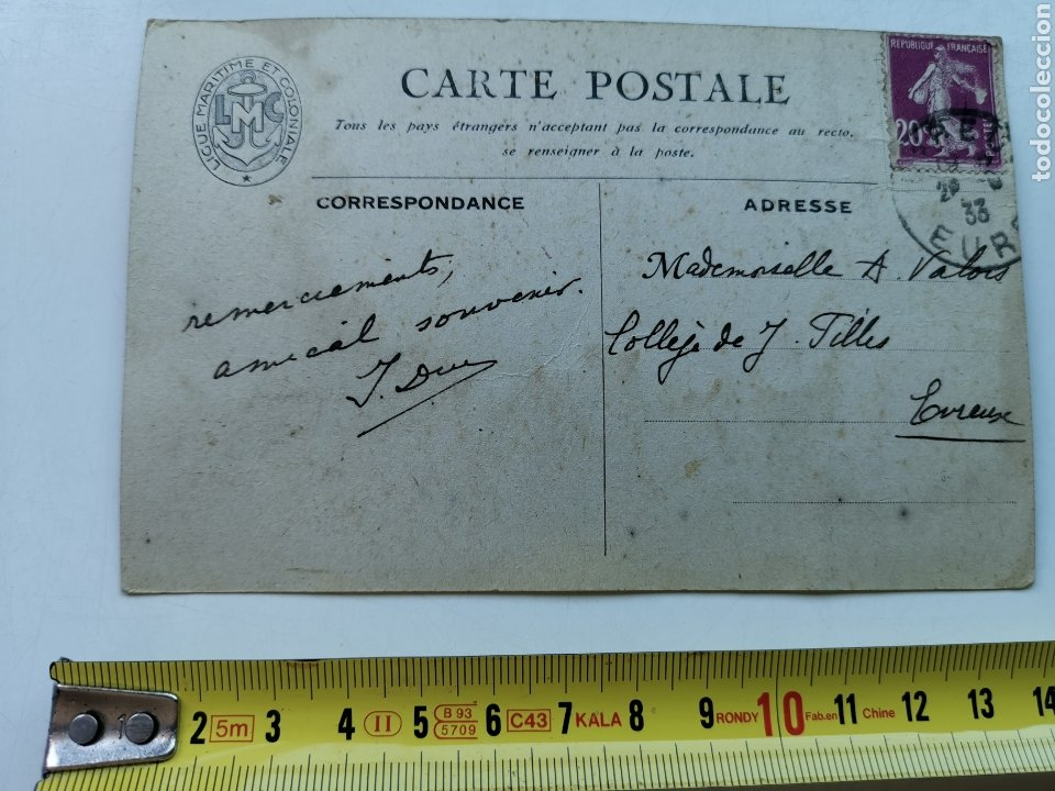 Postales: Postal Barco, La Division Guepratte Dardanelles. Ligue Maritime et Colonial. 1933 E. Chambrelent Cia - Foto 4 - 208937985