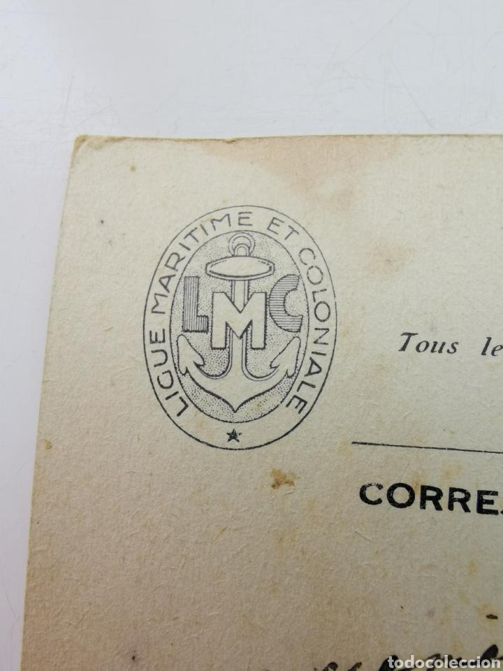Postales: Postal Barco, La Division Guepratte Dardanelles. Ligue Maritime et Colonial. 1933 E. Chambrelent Cia - Foto 6 - 208937985