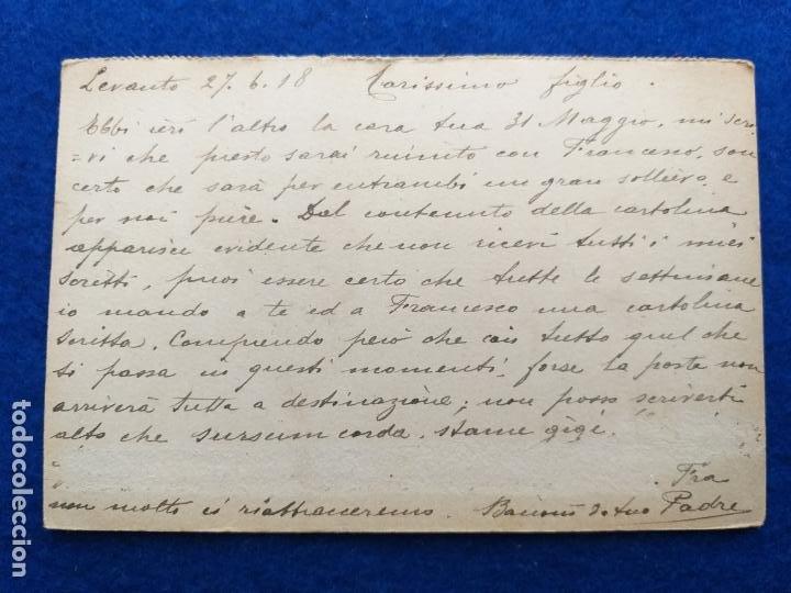 Postales: Correspondencia de prisioneros de guerra de la Primera Guerra Mundial. Cruz roja italiana - Foto 2 - 212100040