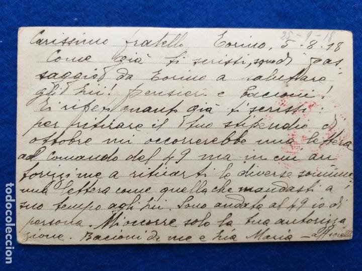 Postales: Correspondencia de prisioneros de guerra de la Primera Guerra Mundial. Cruz roja italiana - Foto 2 - 212275910