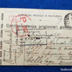 Postales: CORRESPONDENCIA DE PRISIONEROS DE GUERRA DE LA PRIMERA GUERRA MUNDIAL. CRUZ ROJA ITALIANA. Lote 212275910