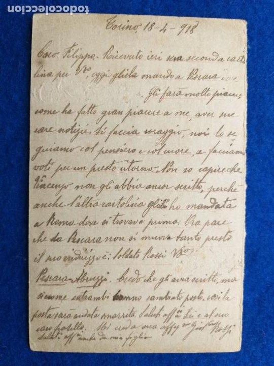 Postales: Correspondencia de prisioneros de guerra de la Primera Guerra Mundial. Cruz roja italiana - Foto 2 - 212276061