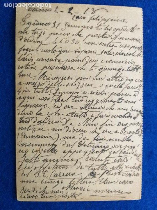 Postales: Correspondencia de prisioneros de guerra de la Primera Guerra Mundial. Cruz roja italiana - Foto 2 - 212276506