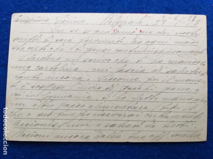Postales: Correspondencia de prisioneros de guerra de la Primera Guerra Mundial. Cruz roja italiana - Foto 2 - 212276640