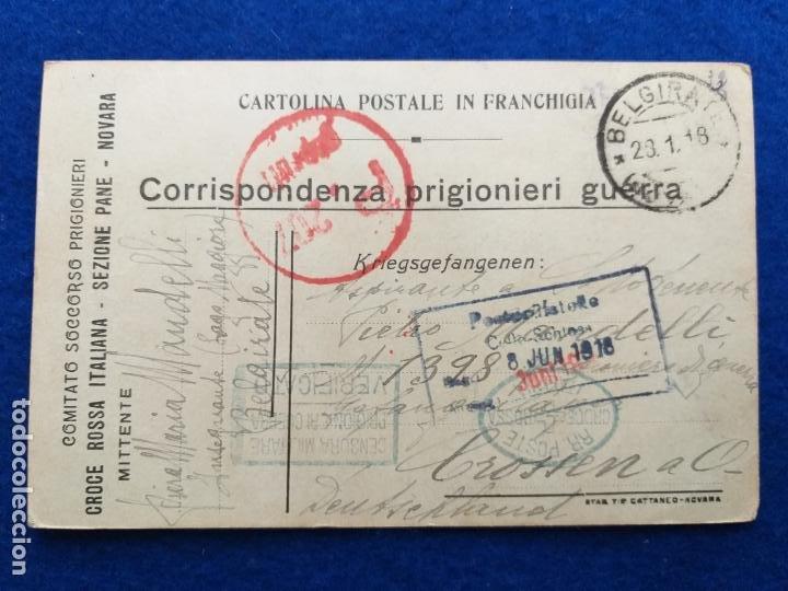 CORRESPONDENCIA DE PRISIONEROS DE GUERRA DE LA PRIMERA GUERRA MUNDIAL. CRUZ ROJA ITALIANA (Postales - Postales Temáticas - I Guerra Mundial)