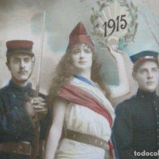 Postales: FRANCIA-I GUERRA MUNDIAL-SOLDADOS-REPUBLICA-AÑO 1915-POSTAL FOTOGRAFICA ANTIGUA-VER FOTOS-(73.777). Lote 216506941