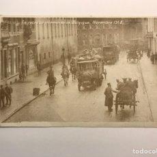 Postales: BÉLGICA, I GUERRA MUNDIAL MILITAR, POSTAL LA RETRAITE ALLEMANDE EN BELGUIQUE. NOVIEMBRE 1918. Lote 218065352