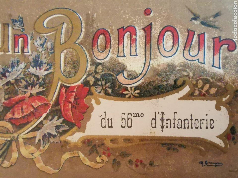 Postales: Carte Postale Bonjour du 56eme dinfanterie. De 1919. France Francia 1ªGuerra Mundial. Escrita - Foto 2 - 218549227