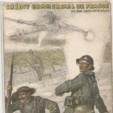 Postales: CRÉDIT COMMERCIAL DE FRANCE SOUSCRIVEZ POUR LA VICTOIRE 1918. Lote 220100121