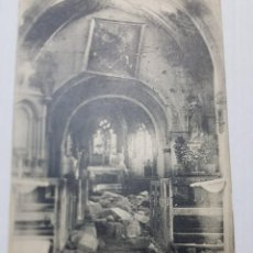 Postales: POSTAL INTERIOR IGLESIA VASSINCOURT TRAS LA BATALLA DE LA MARNE 1914 PRIMERA GUERRA MUNDIAL. Lote 220720217