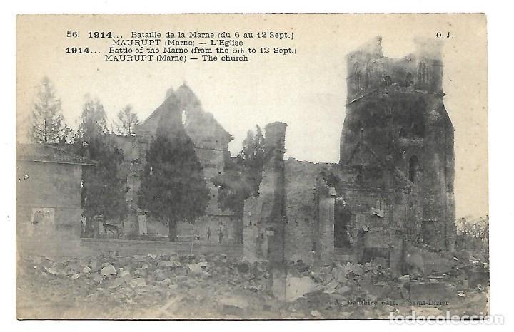 Postales: LOTE DE 14 -POSTALES ANTIGUAS - DE LA GUERRA MUNDIAL DE 1.914 DE LA BATALLA DE LA MARNE -NUEVAS - Foto 3 - 222272316