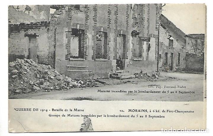 Postales: LOTE DE 14 -POSTALES ANTIGUAS - DE LA GUERRA MUNDIAL DE 1.914 DE LA BATALLA DE LA MARNE -NUEVAS - Foto 6 - 222272316
