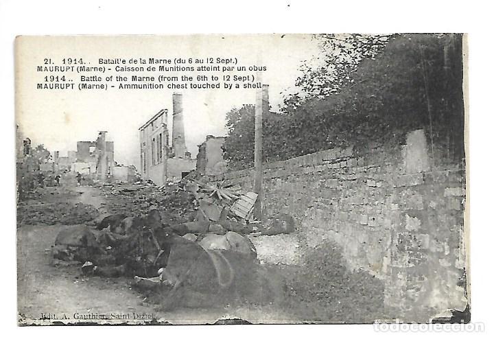 Postales: LOTE DE 14 -POSTALES ANTIGUAS - DE LA GUERRA MUNDIAL DE 1.914 DE LA BATALLA DE LA MARNE -NUEVAS - Foto 10 - 222272316