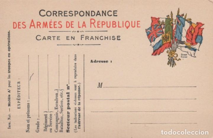 CORRESPONDANCE DES ARMEES DE LA REPUBLIQUE - CARTE ENFRANCHISE - GUERRA 1914-18 (Postales - Postales Temáticas - I Guerra Mundial)