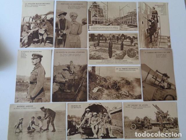 LOTE 12 POSTALES PROPAGANDA PRO BRITÁNICA, I GUERRA MUNDIAL. EN ESPAÑOL (Postales - Postales Temáticas - I Guerra Mundial)