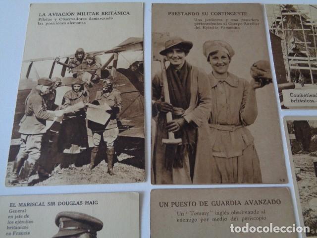Postales: LOTE 12 POSTALES PROPAGANDA PRO BRITÁNICA, I GUERRA MUNDIAL. EN ESPAÑOL - Foto 2 - 222354990