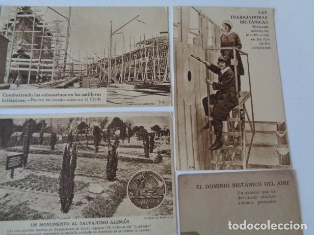 Postales: LOTE 12 POSTALES PROPAGANDA PRO BRITÁNICA, I GUERRA MUNDIAL. EN ESPAÑOL - Foto 3 - 222354990