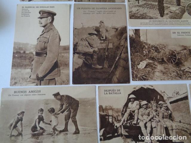 Postales: LOTE 12 POSTALES PROPAGANDA PRO BRITÁNICA, I GUERRA MUNDIAL. EN ESPAÑOL - Foto 5 - 222354990